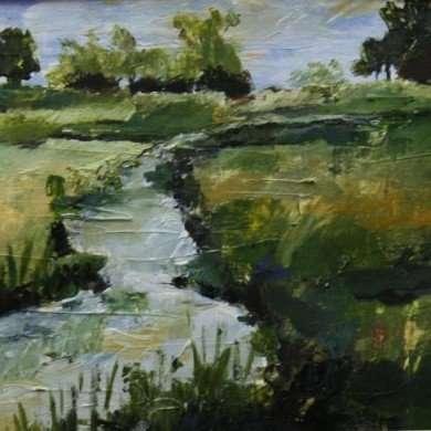'Landschap' - acryl - 2011