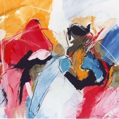 'Abstract' - gemengde techniek - 1992