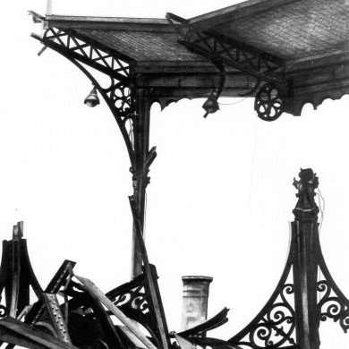 'Les Halles' - potloodtekening - 1980