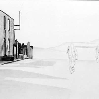 'Oradour-sur-Glane' - potloodtekening - 1981