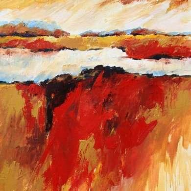 'Rood landschap' - acryl - 2011